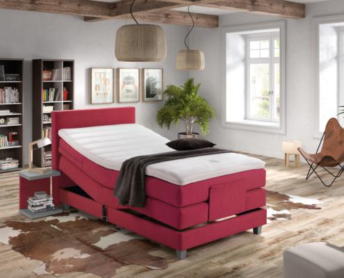 Velda Boxspring Elektrisch Verstelbaar Rood - Bedding