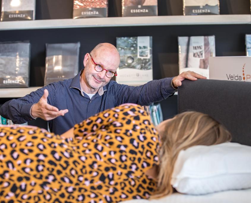 Bedden testen bij Bedding Slaapcomfort Ede